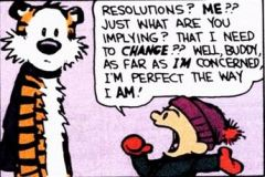 New year resolutions cartoon